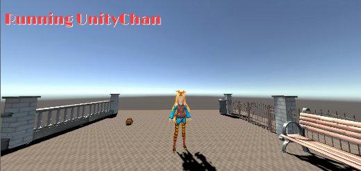 Running UnityChan Title @IDEALENS