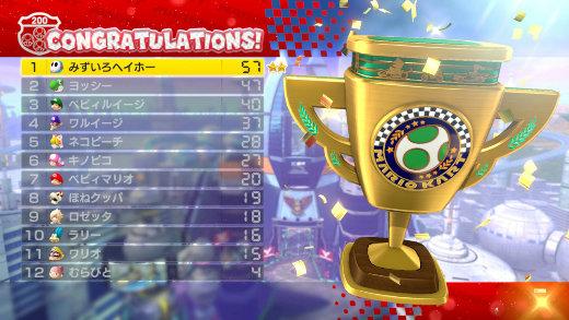 MARIOKART 8 200cc Gold Trophy