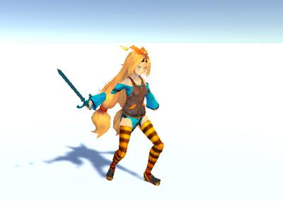 Unitychan Sword Attack 1
