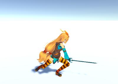 Unitychan Sword Attack 2