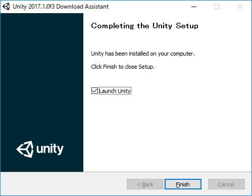 UnityDownloadAssistant 2017.1.0f3 Finish