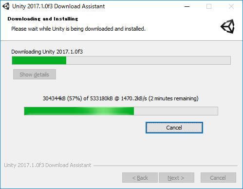 UnityDownloadAssistant 2017.1.0f3 Install