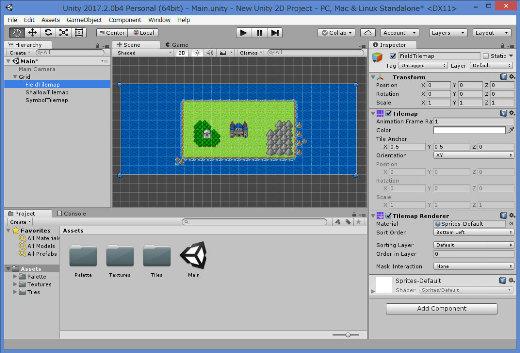 Unity 2017 Beta Menu Tilemap Editor