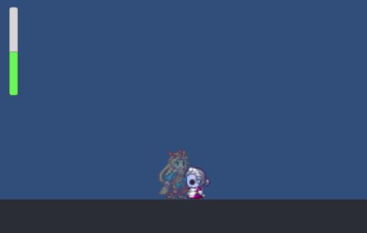 Unity 2D ドットユニティちゃん ダメージ